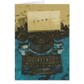 Old Typewriter Love... Greeting Card