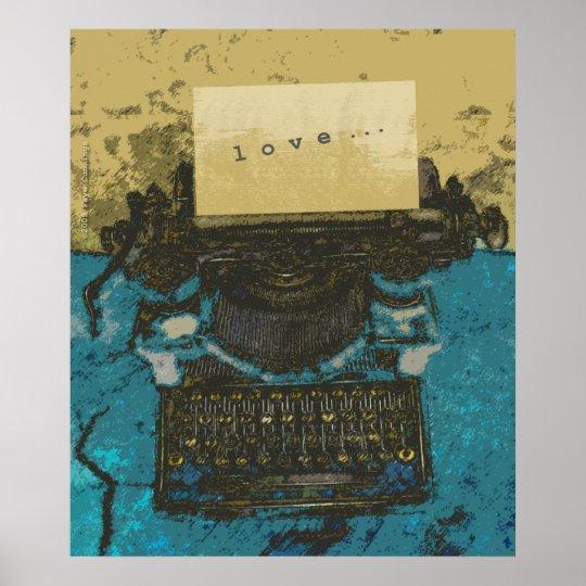Old Typewriter Love Print