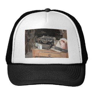 Old Typewriter, machine in dusty office workshop Trucker Hat