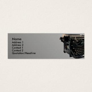 Old Typewriter Mini Business Card