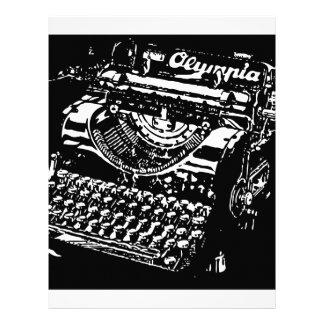 Old Typewriter - Olympia - Black & White antique Letterhead
