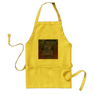 Old Typewriter on Brown Table Adult Apron