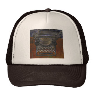Old Typewriter on Red Table Trucker Hat