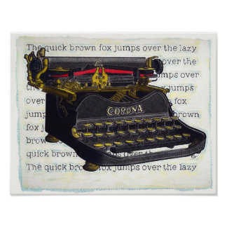 Old Typewriter Poster