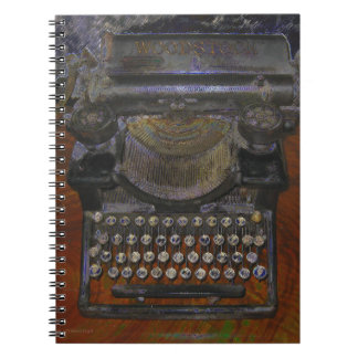 OLd Typewriter Red Table Notebook
