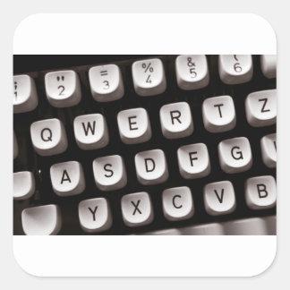 Old_Typewriter Square Sticker