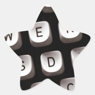 Old_Typewriter Star Sticker