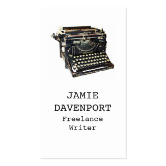 Old Typewriter Writer Journalist Author Business Double-Sided Standard Business Cards (Pack Of 100)