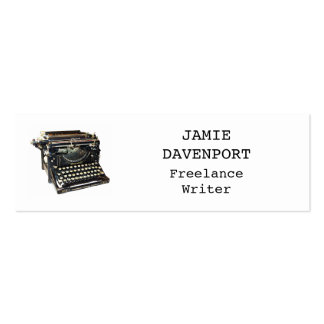 Old Typewriter Writer Journalist Author Slim Double-Sided Mini Business Cards (Pack Of 20)