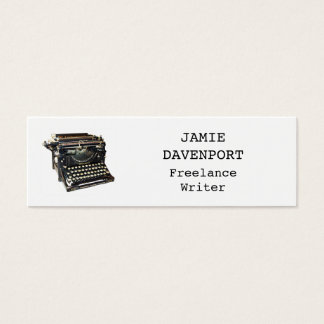 Old Typewriter Writer Journalist Author Slim Mini Business Card
