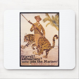 Old U.S. Marines Poster circa 1917 Mouse Pad