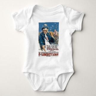 "Old ""Uncle Sam"" U.S. War Poster circa 1917 Baby Bodysuit"