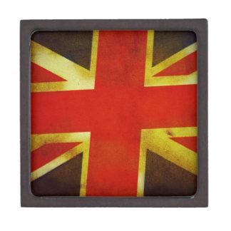 Old Union Jack Flag Jewelry Box