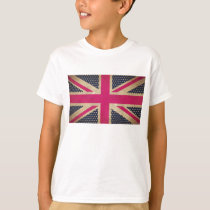 Old Union Jack in Pink Flag Kids Tee Shirt