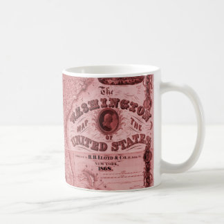 Old United States Map Coffee Mug