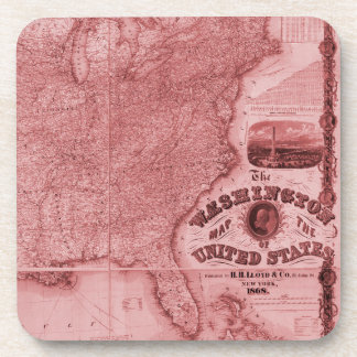 Old United States Map Drink Coasters