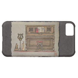Old Upright Piano Cover For iPhone 5C