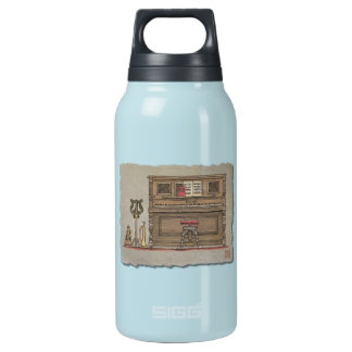 Old Upright Piano Insulated Water Bottle