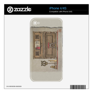 Old Upright Piano Decals For The iPhone 4S