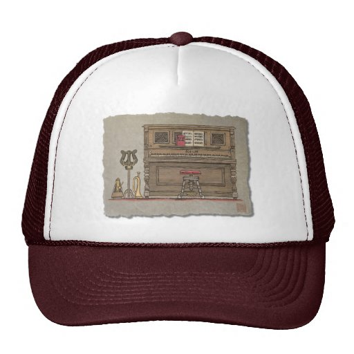 Old Upright Piano Trucker Hat