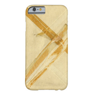 Old used envelope and sticky tape barely there iPhone 6 case