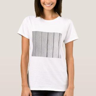 Old varnished grey wooden barn door texture T-Shirt