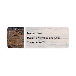 Old Varnished Wood Image. Label