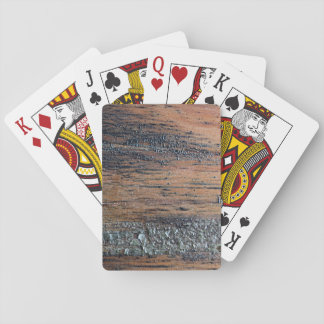 Old Varnished Wood Image. Playing Cards