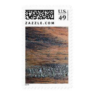 Old Varnished Wood Image. Stamps
