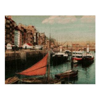 Old Venice Fishing boats 1905 Replica Vintage Postcard