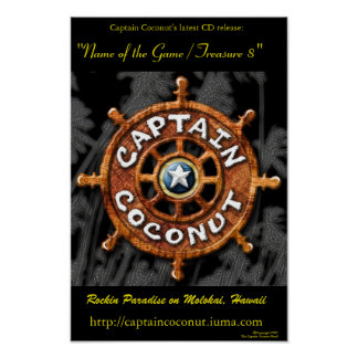 Old version of Captain Coconut CD Poster PORTFOLIO