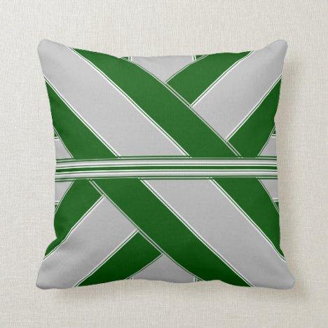 Old Veterans' Glory Ribbonesque Throw Pillow