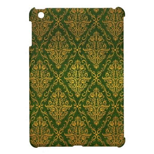 Old Victorian Roses Pattern, green Case For The iPad Mini
