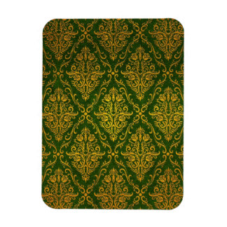 Old Victorian Roses Pattern, green Rectangle Magnet