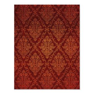 Old Victorian Roses Pattern, red 4.25x5.5 Paper Invitation Card