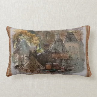 old village in France Lumbar Pillow