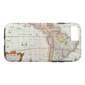 Old Vintage Antique Map of the Americas Circa 1626 iPhone 8/7 Case