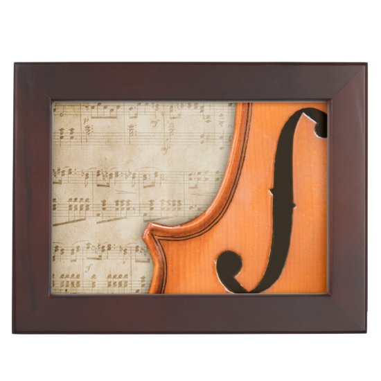 Old Vintage Antique Violin Keepsake Box