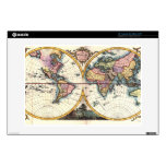 Old Vintage Antique world map illustration drawing Decals For 13&quot; Laptops<br><div class='desc'>Old Vintage Antique world map illustration drawing print. Great gift for anyone loving vintage style and old historic illustration.</div>