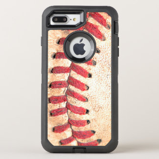 Old Vintage Baseball Ball Red Stitching OtterBox Defender iPhone 8 Plus/7 Plus Case