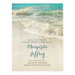 Old vintage beach save the date postcards