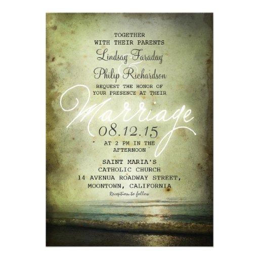 old vintage BEACH WEDDING INVITATIONS