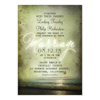 old vintage BEACH WEDDING INVITATIONS