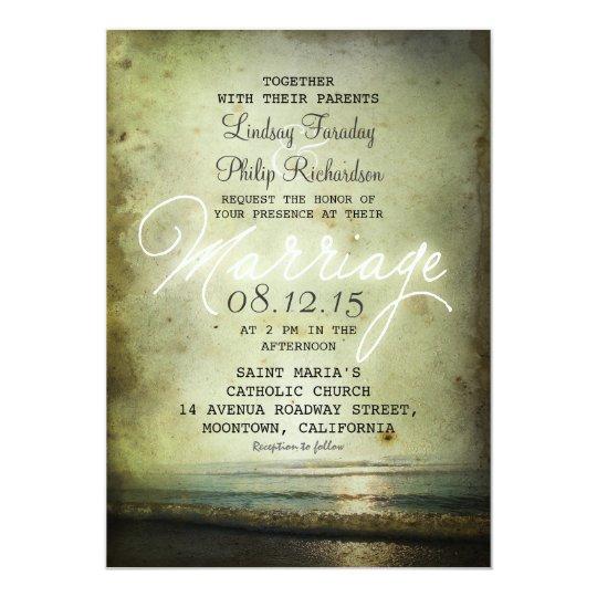 Vintage Beach Wedding Invitations: Old Vintage BEACH WEDDING INVITATIONS