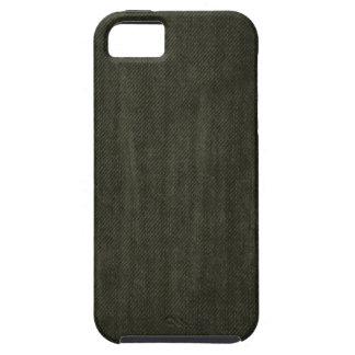 Old Vintage Black Denim pattern iPhone 5 Case