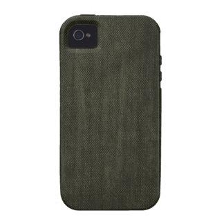Old Vintage Black Denim pattern iPhone 4/4S Cases