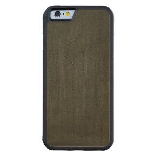 Old Vintage Black Denim pattern Carved® Maple iPhone 6 Bumper Case