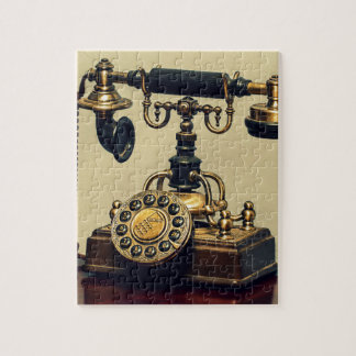 Old Vintage Brass Rotary Telephone Phone Jigsaw Puzzle