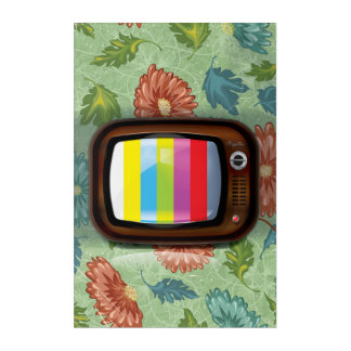 Old Vintage CRT Television Acrylic Print