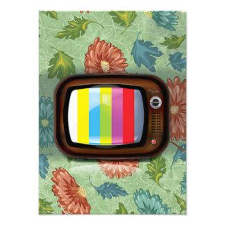 Old Vintage CRT Television Photo Print